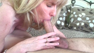 53 year old MILF Sucks and Fucks a 20 year old Young Fan  canada old canadian mom blowjob quebec 69 milf cougar mother old woman young boy fan fuck thick cock ontario cum in mouth fuck a fan