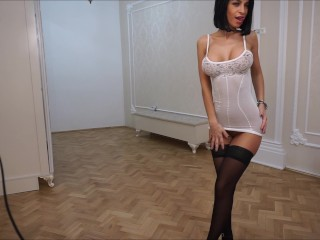 Anisyia LiveJasmin modeling extremely hot outfit at her new place