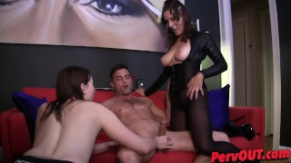 Edging HJ BJ with Jessica Fappit and Lance Hart  edging lance-hart handjob pantyhose kink sweetfemdom ellez big-tits jessica fappit big-boobs blowjob fishnets