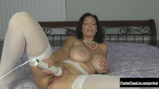Kinky Big Tit MILF Charlee Chase Puts Some Bling in Her Ass Masturbation girls
