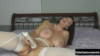 Kinky Big Tit MILF Charlee Chase Puts Some Bling in Her Ass Toys rubbing