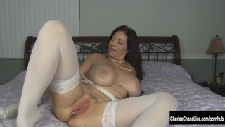 Kinky Big Tit MILF Charlee Chase Puts Some Bling in Her Ass View dick