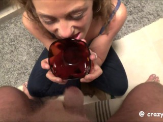 I cum in a bowl and feed my gf