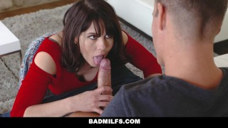 BADMilfs Jacked off & fucked while being tutored by Step Mom