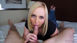 Beautiful blue eyed cocksucker  edging mhbhj mark rockwell the pose marks head bobbers point of view slow teasing mhb blonde blowjob
