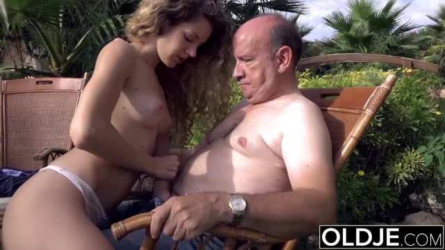 Old ma cock Teen wants to suck an old man cock and get fucked in her pussy gets facial