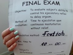 Footjob Stamina Text Part 2. Retake Exam. PASS or FAIL?