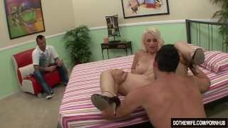 Blonde wife takes huge cock  hardcore housewife mandy sweet cuckold cumshot wife dothewife blowjob blonde