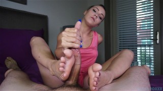 Sasha's foot fuckery  handjob footjob sasha foxxx point-of-view blowjob amateur