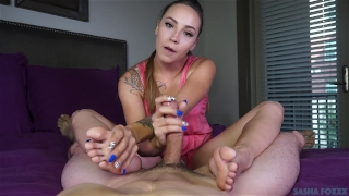 Foot sasha's fuckery foxxx footjob