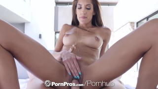 PORNPROS Brunette Chloe Amour toys her pussy before dick injection