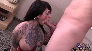 tattooed TS sex bunny Britney Boykins gets fucked hard porno