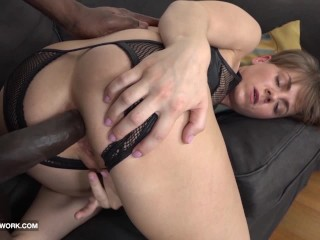 Porno Mom Big Tits Short hair milf fucked by big black cock in hardcore interracial anal sex
