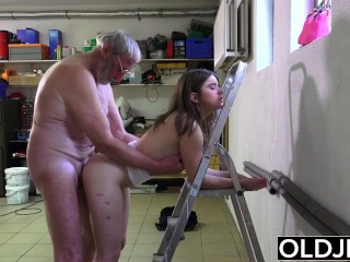 Hardcore Anal Gallery Old Man Fucks Young Girl His Small Cock Fucks Her Mouth And Pussy