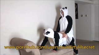Just two Horny sexy Pandas.....- Ourdirtylilsecret  pandastyle bear moan blonde amature fuck cumming amateurs costume panda verified bent girls ourdirtylilsecret onesie pajamas