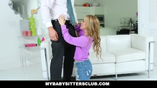 MyBabySittersClub - Cute Young Babysitter Fucks Dad For Revenge  mybabysittersclub sitter blonde cumshot babysitter skinny teamskeet boss petite shaved facialize facial baby