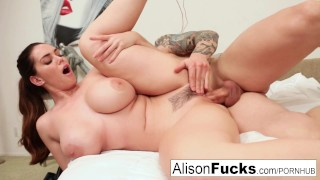 alison tyler busty babe gets anal