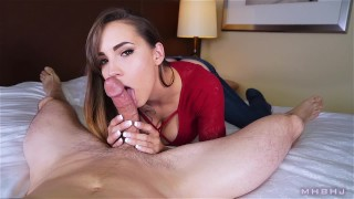 Sasha POV  edging brunette mhbhj facial slow teasing blowjob mark rockwell the pose marks head bobbers mhb cfnm
