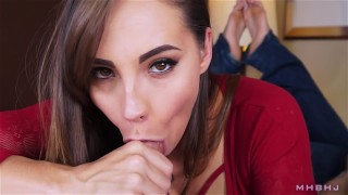 Sasha POV mark rockwell the pose edging marks head bobbers mhb brunette slow teasing blowjob mhbhj cfnm facial