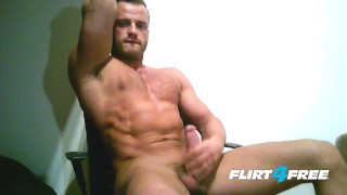 A ripped load european sprays big on chest stud load guy