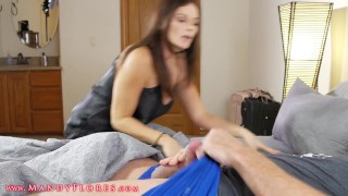 Horny boy fucked his stepmom Blowjob tits