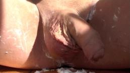 male intimate shaving (erotic art)