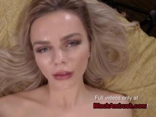 Blonde Teen Ambushed & Creampie by Huge Black Man
