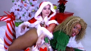 nina riveras christmas toy in her finger fucking