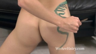 Alecia Fox paints on her couch and masturbates
