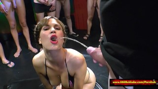 Huge Pissing gangbang - 666Bukkake  watersports blowjob fetish hardcore kink rimming gangbang piss pee bukkake piss drinking urinal piss bath 666bukkake