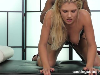 Hot White Girl Fucks Her First Black Guy For Chance At A Job