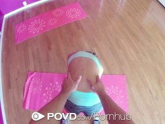 POVD Yoga flexible bending fuck in POV with Janice Griffith