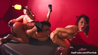 Sexy lesbian fourway with Asa, Marie, Mason, and Tory raven hardcore lesbo black hottie blonde babe pornstar puba glasses asaakira bombshell anal-play foursome brunette