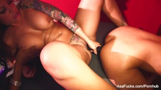 Sexy lesbian fourway with Asa, Marie, Mason, and Tory  anal play raven babe glasses bombshell lesbo black blonde pornstar puba asaakira foursome hardcore brunette hottie