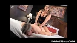 Muscle Goddess BrandiMae Teaches Dirty Old Man Lesson #2