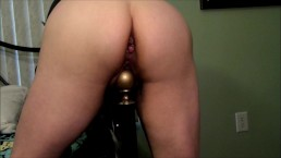 Mrs.CStorm ass and pussy stretched by large bed post