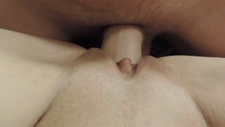 pov – close up – girls pussy fucked by fat cock