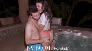 BAEB Adria Rae and James Deen intense hot tub fuck