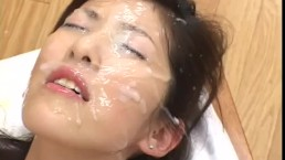 Rei Shina riding a stiff cock then gets covered in tattie water