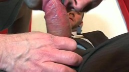 Jerome, innocent vendor serviced his big cock by a guy!
