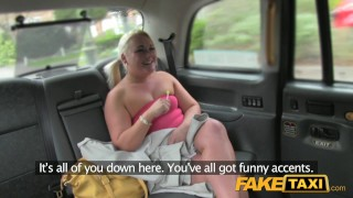 Sucks blonde dick bubbly in taxi fake taxi rimming car