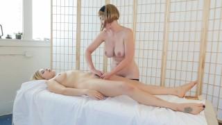 Blondes Trish And Starlette Masturbating Tits cum