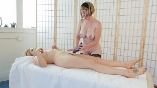 Blondes Trish And Starlette Masturbating Spanking kinky