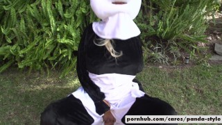 pandastyle spanish alex d costume big-boobs public outside big white cock blowjob throating reverse-cowgirl dick riding cowgirl titty-fucking facial cumshot