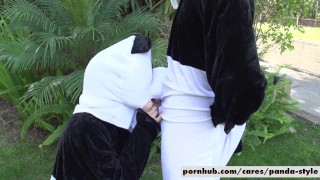 Nicole Aniston & Lucas Frost Panda Style  big-cock big-tits outside cosplay doggy-style blowjob blonde public cowgirl spooning facial pandastyle costume re verse