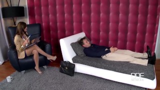 Super Horny Therapist gets ass fucked by her Pornstar Client