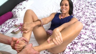 Rachel Starr Working Her Sexy Toes, Gives Incredible Footjob (fj9090)  rachel starr big ass bang bros ass babe bangbros booty pornstar fetish kink big-butt footjob toes latina latin magical feet big butt