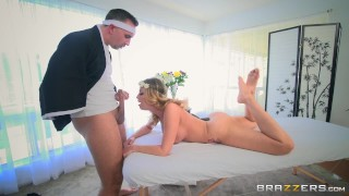 Britney Amber loses massages and cock - Brazzers Blowjob black