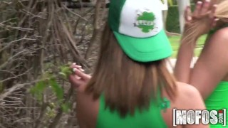 Mofos - St Patty's Day Foursome ass mofosnetwork big-ass young pool group-sex outdoors big-tits cock-sucking brazzers pussy-licking st patricksday colledge party group teenager