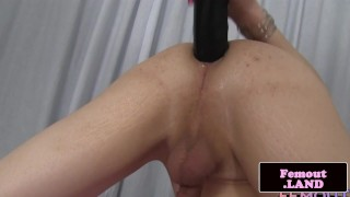 With her ass femboy pigtail toys big dildo femout dildo